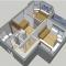 1-комнатная = 2-комнатная. 43 кв.м.