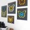 Бабочек на стену!