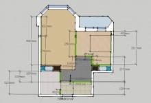 1-комнатная в 2-ух 43 кв.м. Часть 2-ая постановочная