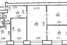 Перепланировка и дизайн 3-х комнатной квартиры