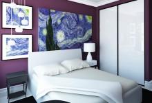Дизайн спальни. Фиолетовый в интерьере