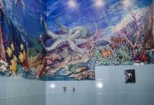 """Роспись """"Море"""" в ванной"""