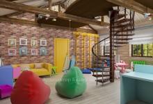 Интерьер детской игровой комнаты в доме