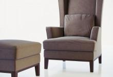Дизайнерское кресло и пуф