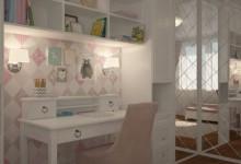 Детская комната 14 кв м для девочки 4 лет