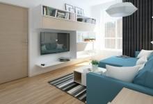 Квартира в бело-голубых тонах