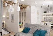 Kremenchugskaya 50m | Недорогой дизайн квартиры в современном стиле