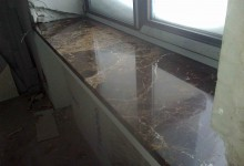 Мраморные подоконники в частном доме