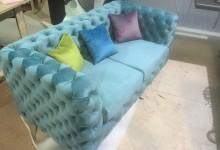 Дизайнерский диван с каретной стяжкой