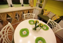 Кухня с ромашками