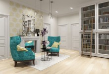 "Beringa 110m | Трехкомнатная квартире в стиле ""легкая эклектика"""