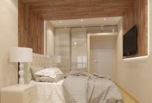 Интерьер с деревянными конструкциями