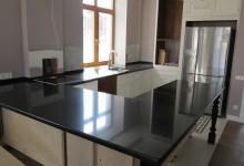 Кухонная столешница из агломерата Таурус Блэк
