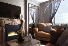 Samocveti - 116m | Дизайн квартиры в стиле лофт