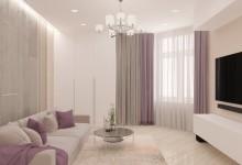Акценты в интерьере светлой гостиной