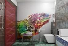Эпатажный проект ванной комнаты