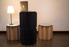 Мебель или книга? Складной табурет в духе оригами