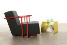 Яркий стол-скамейка