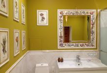 Декорирование ванной ботаническими гравюрами