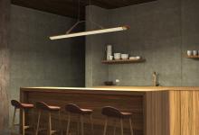 Дерево, кожа и медь: современный светильник в эко-стиле