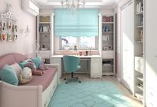 Дизайн детской комнаты для маленькой девочки