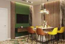 Дизайн интерьера квартиры в ярких оттенках