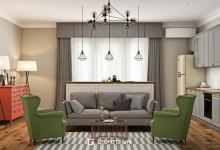 Дизайн интерьера в современном скандинавском стиле для молодой семьи
