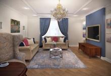 Дизайн кухни-столовой, гостиной 66 кв.м