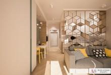 Дизайн квартиры студии 29 м