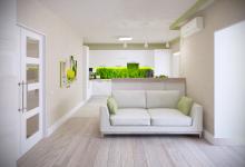Дизайн-проект 1 этажа двухуровневой квартиры