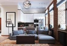 Дизайн-проект четырехкомнатный квартиры в стиле лофт