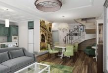 Дизайн-проект двухуровневой квартиры