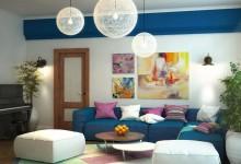 Дизайн-проект гостиной с элементами средиземноморского стиля