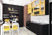 Дизайн-проект квартиры-студии в Новокосино-2