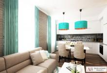Дизайн трехкомнатной квартиры 101 кв. м