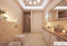Дизайн туалета 12,3 кв. метра