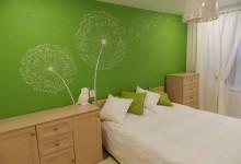 Дом жёлтой совы: спальня и лоджия