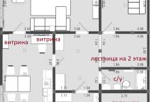 Двухэтажный жилой дом 131 кв м. План.