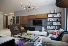 Квартира 110 кв.м, сочетание классического и современного стиля