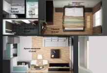 Экономичные квартиры тоже можно сделать стильно...