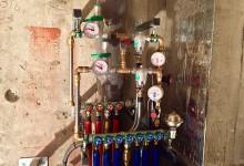 Ещё один вариант расположения трубопровода в санузле. Сто пятая часть.