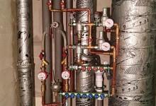 Ещё один вариант расположения трубопровода в санузле. Сто третья часть.
