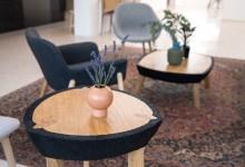 Четыре столика: комбинация материалов