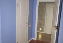 Гардеробная в синей спальне