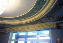Голубая гостиная. Ручная роспись потолка и декора стен