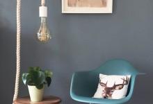 Лампа на канате