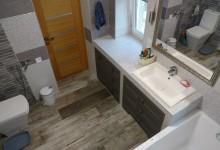 Хозяйская ванная комната в частном доме