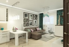 Интерьер квартиры в ЖК «Ильинский Парк»