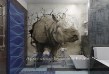 Дорогу носорогу: Эпатажный проект ванной