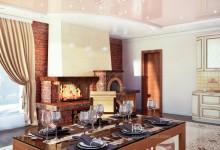 Камин и печь – украшение гостиной